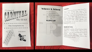 How to Make a bi-fold pamphlet/folding pamphelt in MS Word