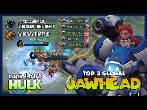 Space Explorer Super Deadly Carry Mode with 14 Kill! ʜᴜʟᴋ Top 2 Global Jawhead ~ Mobile Legends