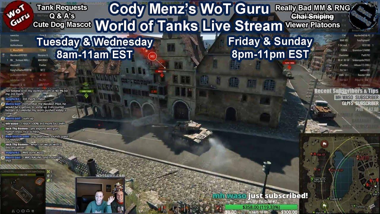 World of Tanks [WoT Guru] Live Stream [211 Tanks] [English] [9,356 Personal  Rating] [2,721 WN8]
