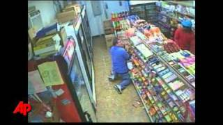 Raw Video: Shootout With Store Robbers
