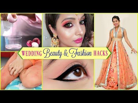WEDDING - Beauty & Fashion HACKS   #LifeHacks #HairCare #ShrutiArjunAnand - Видео онлайн