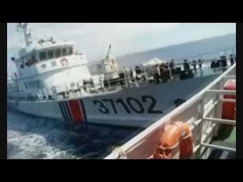 中国船の体当たり ベトナム、報道機関に映像配布 Vietnam releases video on S. China Sea clash