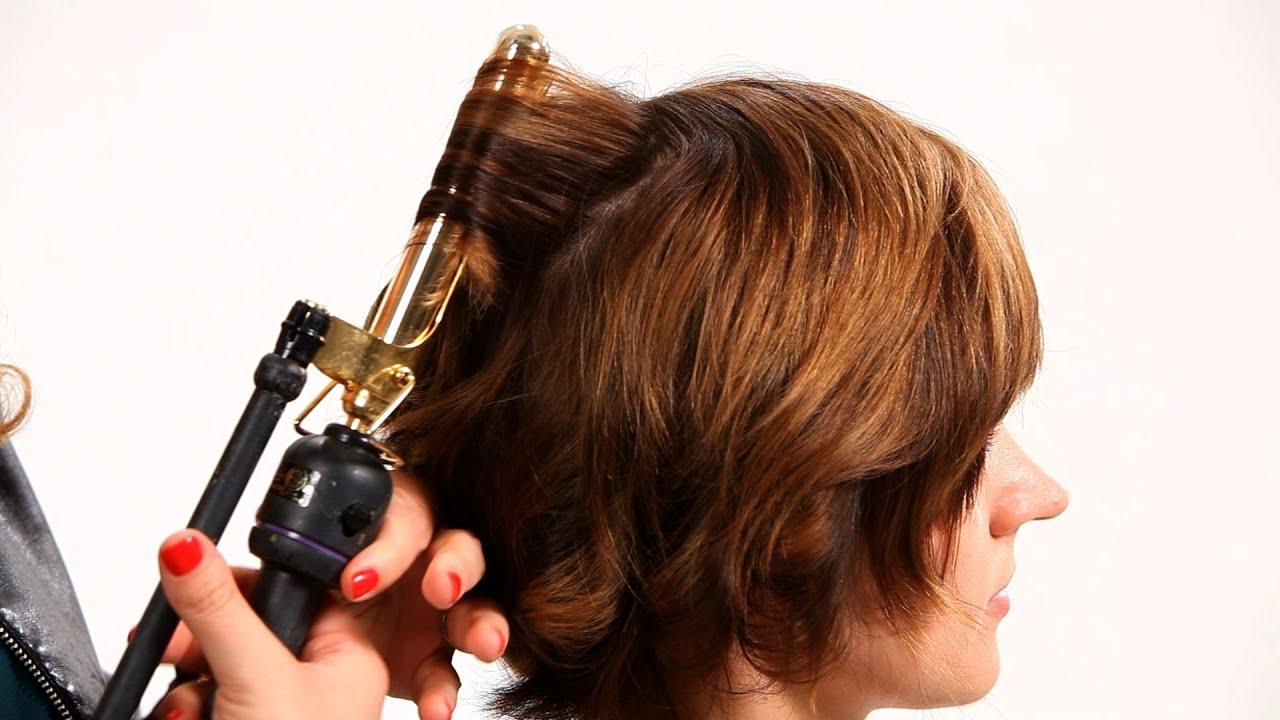 curling iron short hair