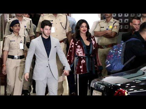 Newly Married Couple Arrives Mumbai @2:30 MidNight | #PriyankaChopra And #NickJonas