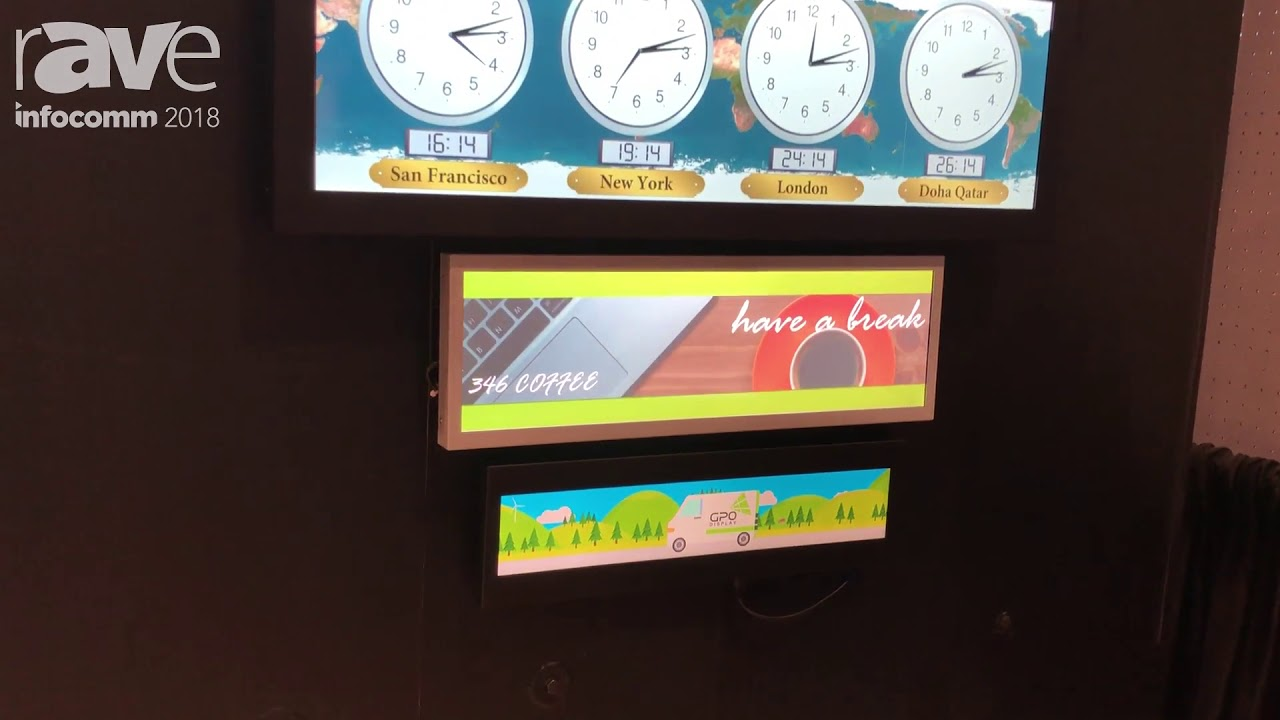 InfoComm 2018: GPO Display Presents Panoramic, or Stretch, LCD Display  Solutions
