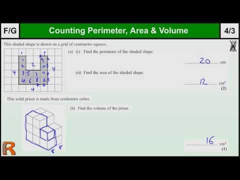 Perimeter, Area, Volume GCSE Maths Foundation revision Exam paper practice & help