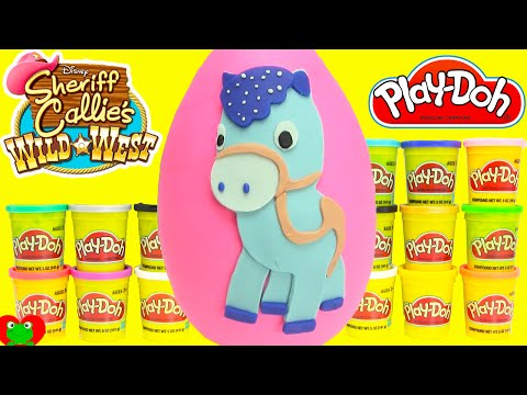 Thumbnail: Sheriff Callie Play Doh Surprise Sparky Egg Learning Colors with Shopkins