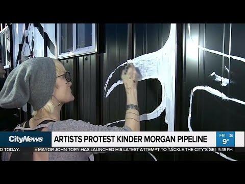 Artists protest Kinder Morgan Pipeline