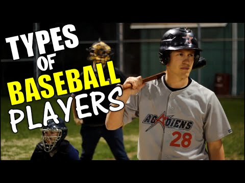 the many different types of players in the game of baseball