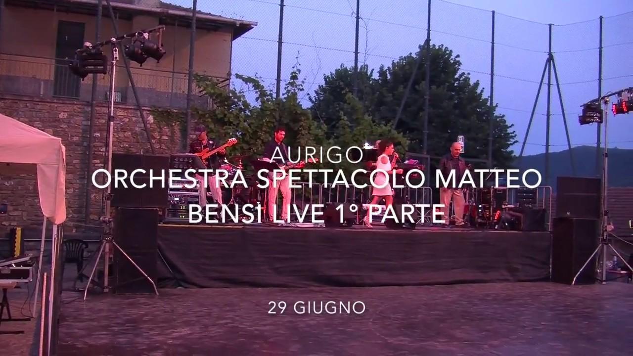 Omar Codazzi Calendario.Matteo Bensi E La Sua Orchestra Spettacolo Live Aurigo 1 Parte