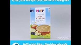 Bột sữa HiPP Praebiotik Organic 250g vị bắp, sữa, hoa quả 2953 cho trẻ từ 6 tháng tuổi - Bibabo