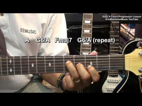 Terry Kath Chicago Style Easy ONE SHAPE Guitar Chord Progression Lesson EricBlackmonGuitar