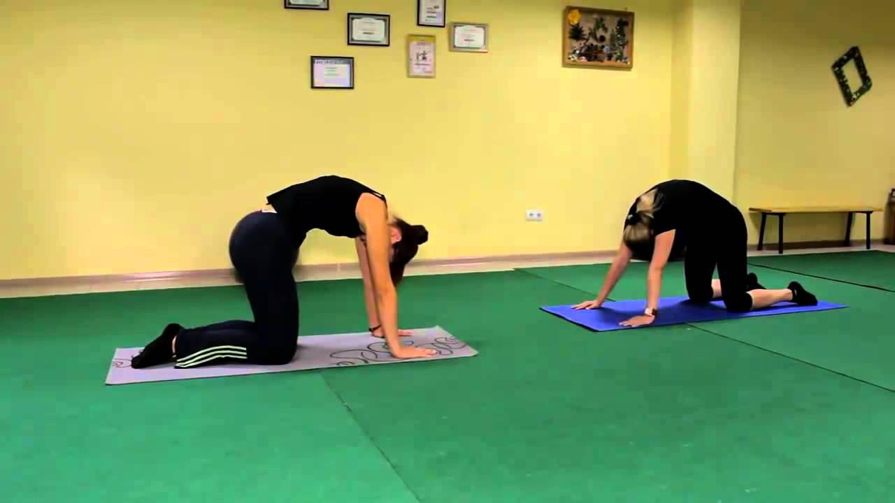 Упражнения для похудения спины видео уроки