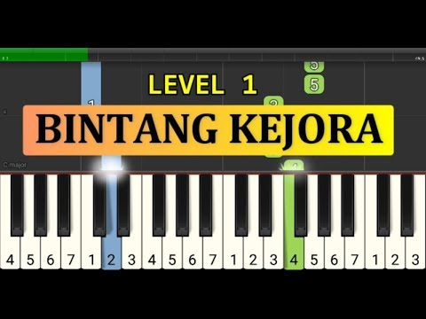 Not Piano Bintang Kejora - Tutorial Piano Tingkat 1 - Lagu Anak Anak Ciptaan At Mahmud