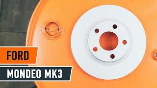 Montavimo priekyje ir gale Stabdžių diskas FORD MONDEO: vaizdo pamokomis