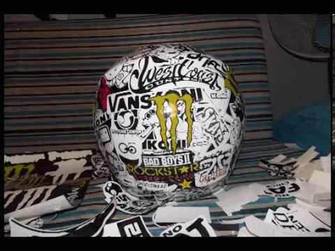 Sticker Bombing Helmet стикербомбинг на шлеме