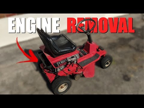 toro 8 25 how to remove engine youtube Toro Wheel Horse Wiring-Diagram