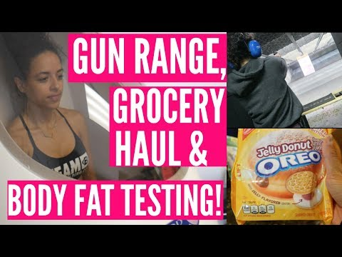 REVERSE DIETING Ep. 1 || Body Fat, Grocery Haul, & Shooting Range!