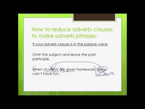 Reduced Adverb Clauses