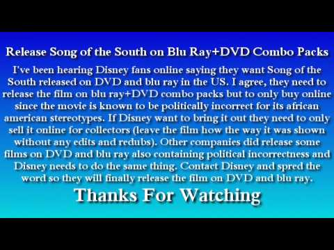 Release Song of the South on Blu Ray+DVD Combo Packs