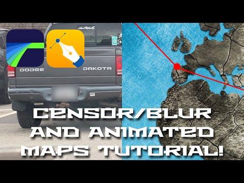 Censor / Blur and Animated Maps How To Tutorial - LumaFusion luma - animated maps