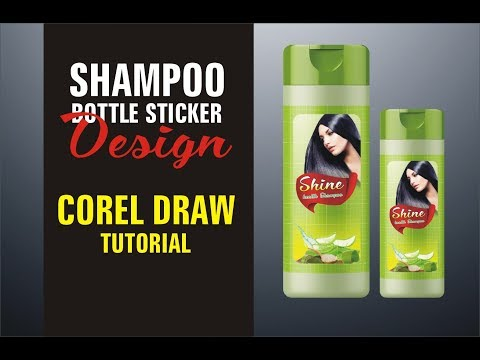 shampoo product packaging design [Corel Draw]