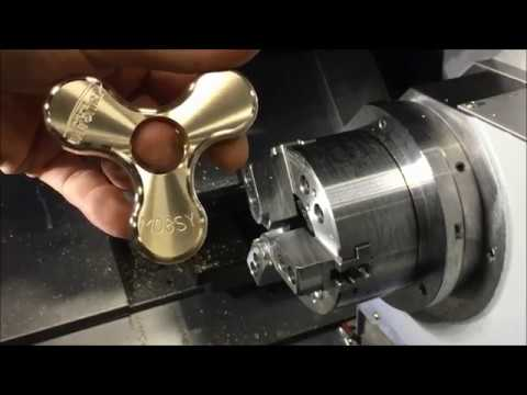 Metal Fidget Spinner made on Tsugami M08SY Lathe