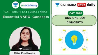 Download Essential VARC Concepts - Odd One Out   Unacademy CAT4MBA l Ritu Dudhoria
