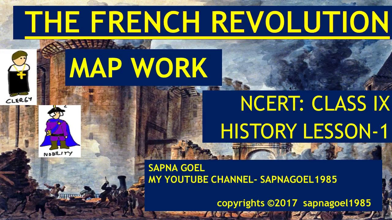 The french revolution map work class ix ncert history l 1 the french revolution map work class ix ncert history l 1 school and ias hindi gumiabroncs Choice Image