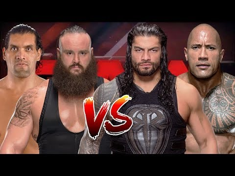 The Great Khali and Braun Strowman vs Roman Reigns and The Rock thumbnail