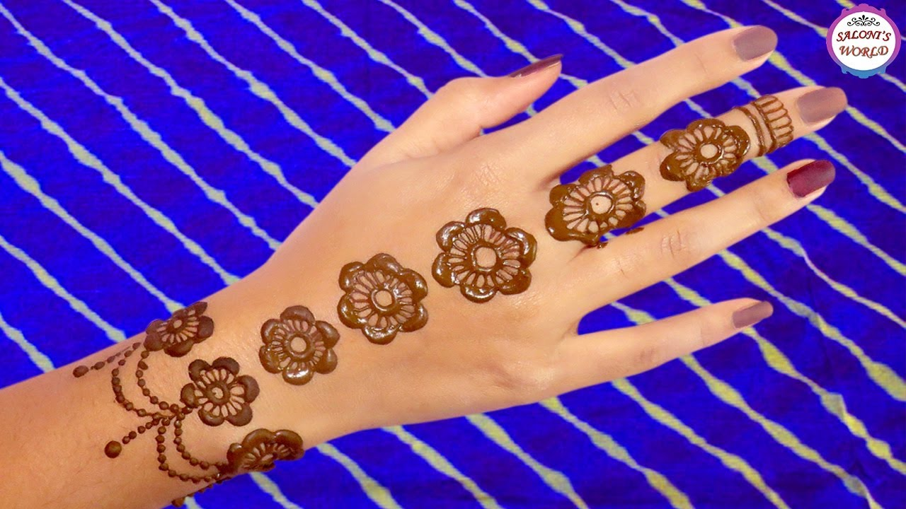Simple Back Hand Mehndi Designs For Hands Henna Tattoo By Jyoti