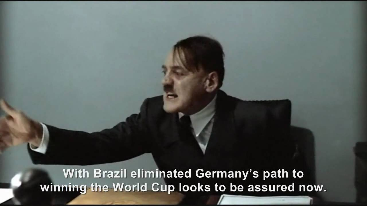 Hitler is informed Brazil has been knocked out the World Cup