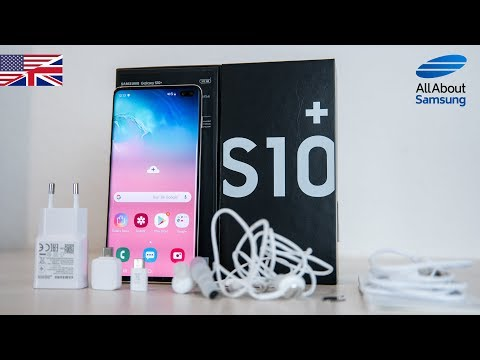 Samsung Galaxy S10 Plus Unboxing english ceramic white 4k
