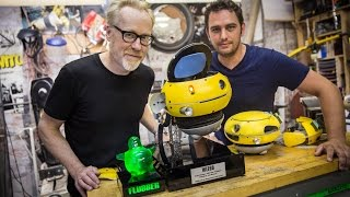 Adam Savage Meets a Weebo Animatronic Robot!
