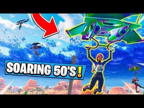 *NEW* Fortnite SOARING 50s Gameplay! | 50 V 50 V4 Best Mode!