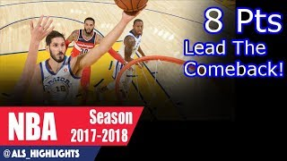 Omri Casspi Full Highlights 2017.10.27 vs Wizards - 8 Pts, 3 Rebs, Leads The Comeback!