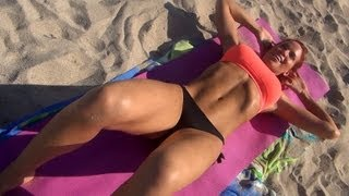 Intense Girl's Sexy Bikini ABS WORKOUT!!