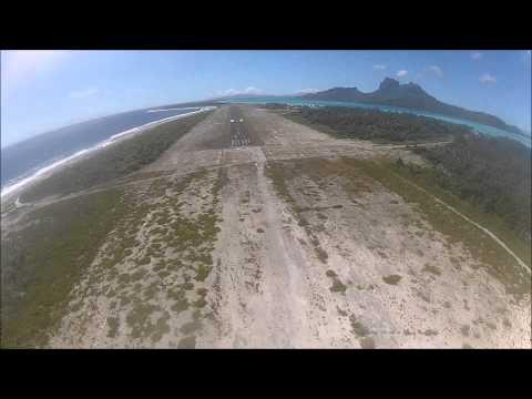 Flying from Raiatea to Bora Bora...and overfly of Tupai