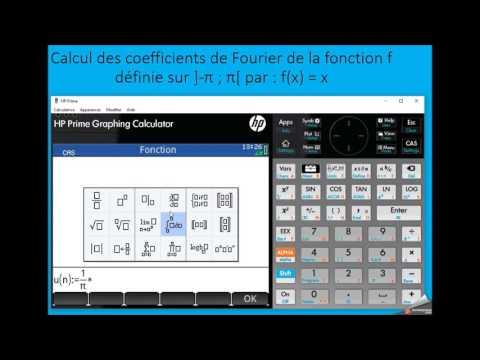 Séries de Fourier sur calculatrice HP Prime