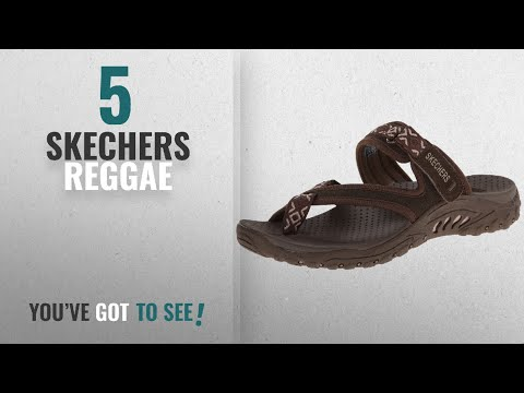 Top 5 Skechers Reggae [2018]: Skechers Women's Reggae Trailway Flip Flop, Chocolate/Cream, 9 M US