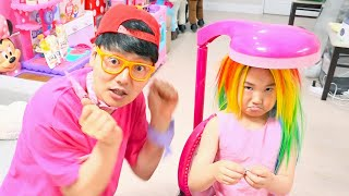 보람이의 라푼젤 공주 미용실 놀이 Princess Rapunzel and play with makeup toys