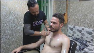ASMR Turkish Barber Face,Head And Body Massage 287