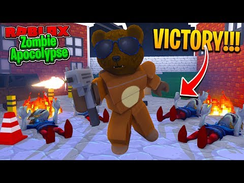ROBLOX - BRUNO'S FIRST VICTORY & NEW WEAPONS!!! - ZOMBIE APOCALYPSE