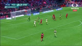 Gol  de A. Canelo | Toluca 2 - 2 América | Clausura 2019  - Jornada 15 | LIGA Bancomer MX