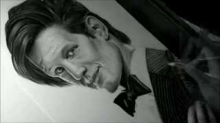Drawing Matt Smith as the Doctor