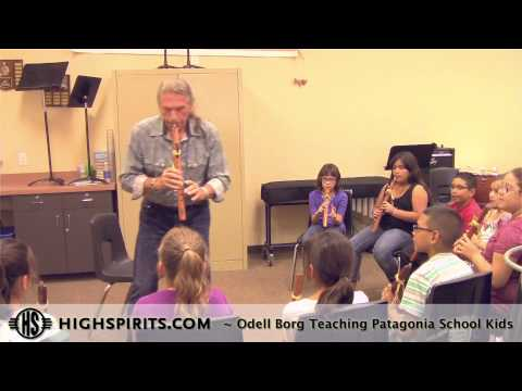 High Spirits Workshops - Odell visits the Patagonia Elementary School