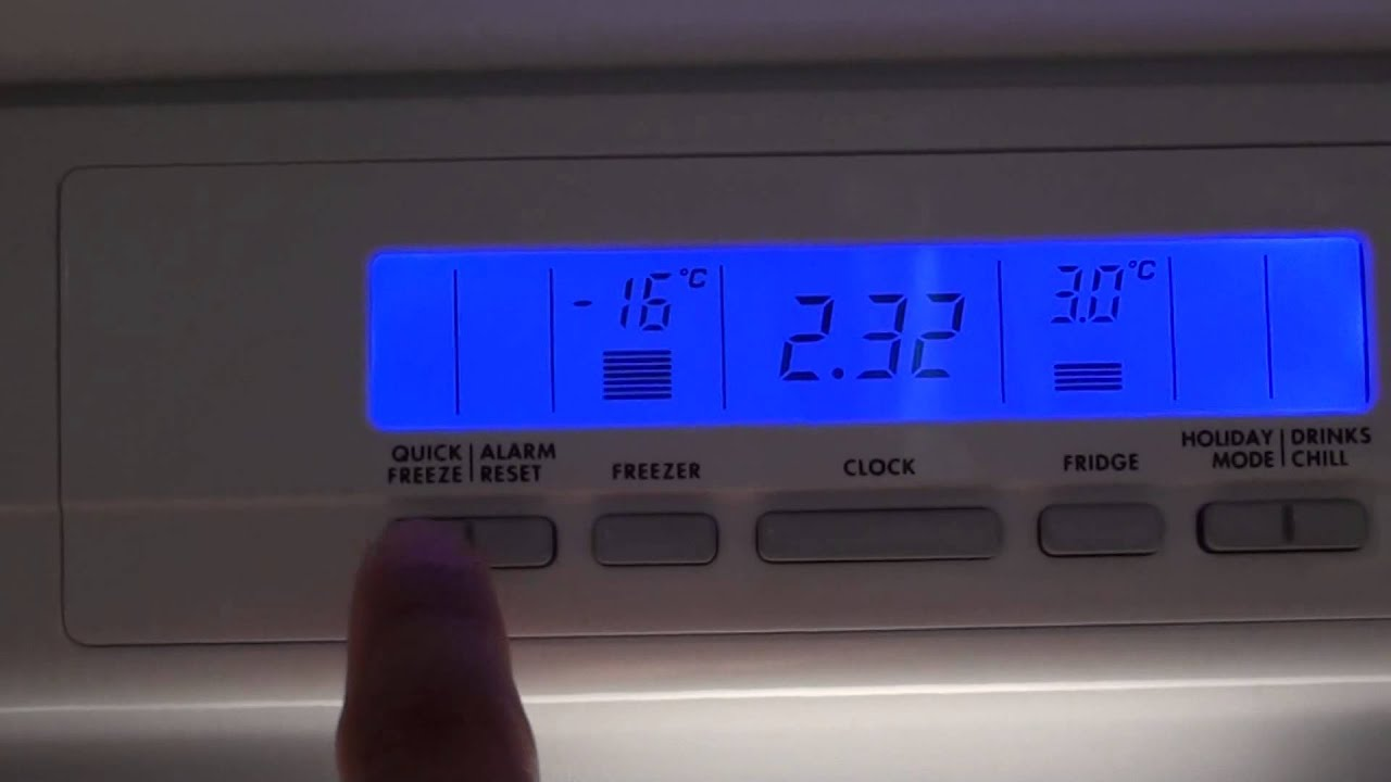 Fridge: How to Change the Temperature for Fridge / Freezer   #0622C5