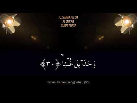 murottal-surat-pendek-juz-amma-al-quran-surah-'abasa-juz-30-ust-hanan-attaki