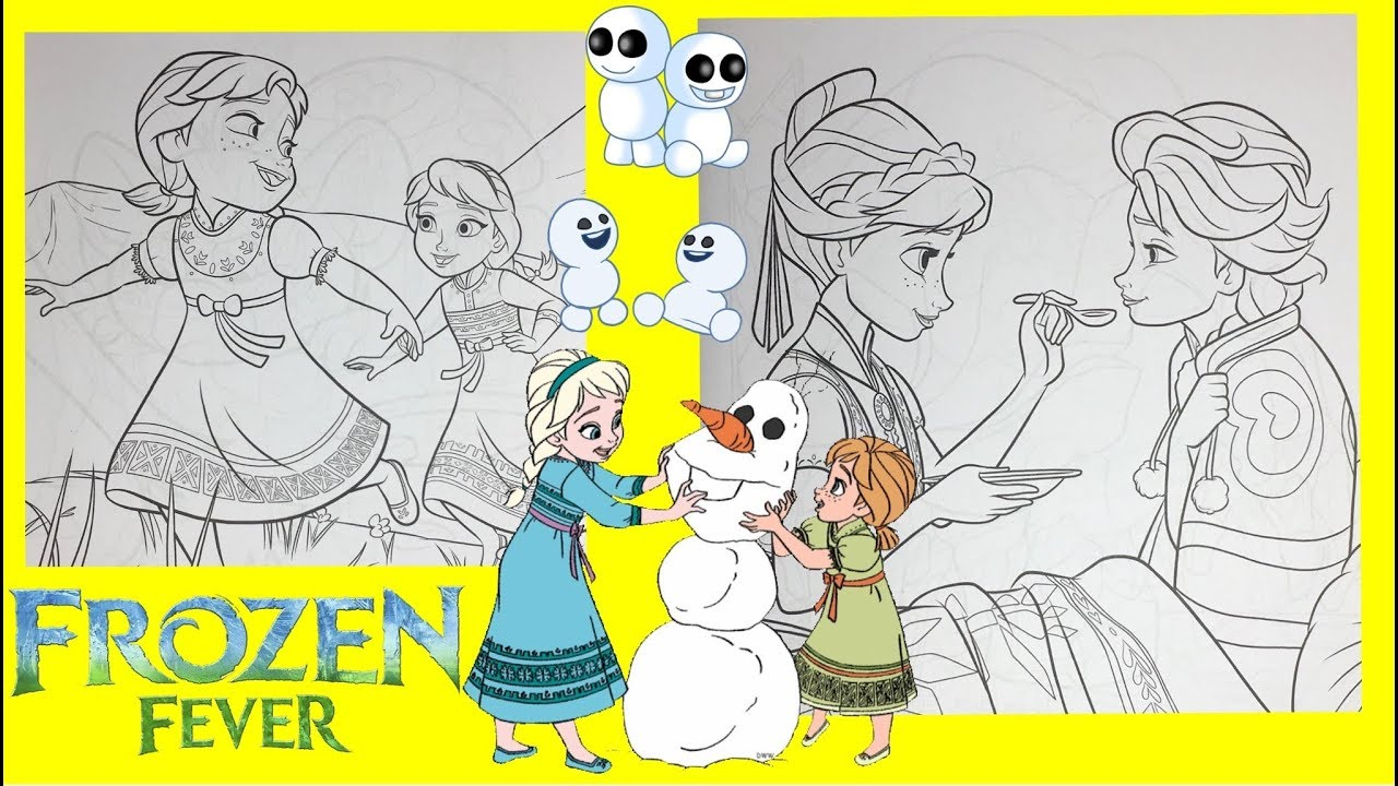 Frozen Fever Anna And Elsa When Young Coloring Book For Kids