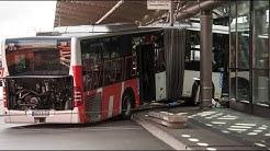 Ursache noch unklar: Bus kracht in Hamburger S-Bahnhof